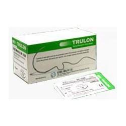 nici nylonowe TRULON, USP 4/0, ig?a odwrotnie tn?ca, 3/8 ko?a, d?.19mm, d?. 45cm